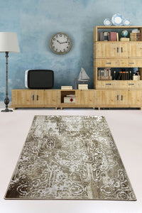 Antdecor Harmony Khaki Decorative Carpet 160X230 Cm