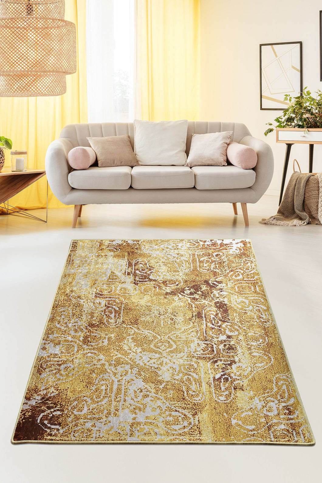 Antdecor Harmony Mustard Decorative Carpet 160X230 Cm