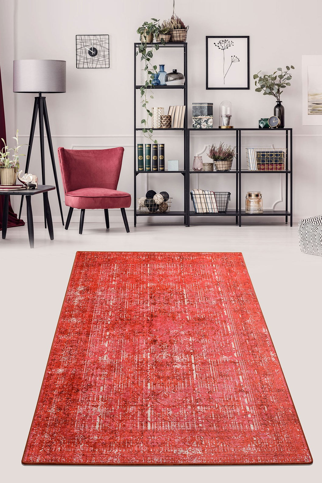 Antdecor Isabel Red Decorative Carpet 160X230 Cm