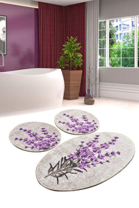 Antdecor Lavender Set Of 3 Bath Rug