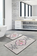 Load image into Gallery viewer, Antdecor Rosas Set Of 2 Bath Rug 60X100 Cm - 50X60 Cm