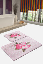 Load image into Gallery viewer, Antdecor Monet Pink Set Of 2 Bath Rug 60X100 Cm - 50X60 Cm