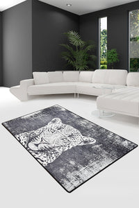 Antdecor Tiger Black Decorative Carpet 120x180 cm