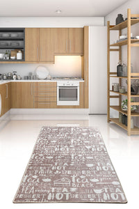 Antdecor Hot Tea Beige Decorative Carpet 140x190 cm