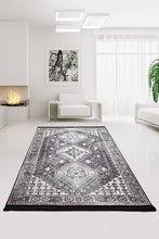 Load image into Gallery viewer, Antdecor Rondine Black Decorative Rug 140x190 cm