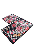 Load image into Gallery viewer, Antdecor Checkered Pattern Carnival of Flowers Decorative Bathroom Rug