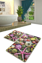 Load image into Gallery viewer, Antdecor Pebble Stones  Starfish Sea Design Decorative Bathroom Rug