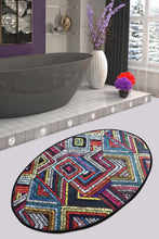 Load image into Gallery viewer, Antdecor Multicolor Geometric Pattern Decorative Oval  Area Rug