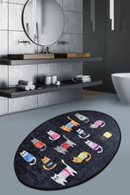 Load image into Gallery viewer, Antdecor Baby  Cats Casual Decorative Oval  Area Rug 23'' 35'' 60X90 cm