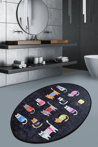 Antdecor Baby  Cats Casual Decorative Oval  Area Rug 23'' 35'' 60X90 cm