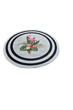 Load image into Gallery viewer, Antdecor Black Frame and Flamingo Decorative Round Area Rug 55'' 140 cm