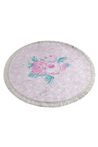 "Antdecor Monet Pink Round Bath Rug Area Rug Round Rug 40"" 100 cm - Cross Border Exporter"