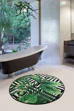 "Load image into Gallery viewer, RugstoreX Tropic Round Bath Rug Area Rug Round Rug 40"" 100 cm - Cross Border Exporter"