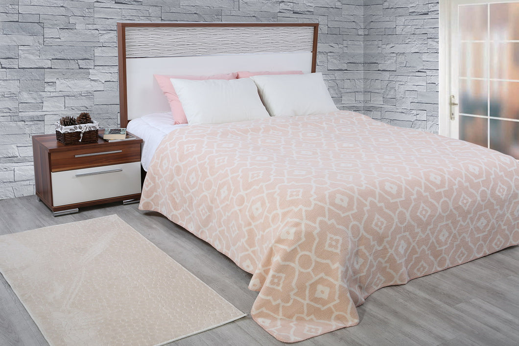 Antdecor Double Cotton Blanket Kris Powder