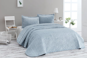 Antdecor Bedspread Set Double Ruby Blue