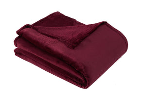 Antdecor Wellsoft Single Blanket Bordeaux