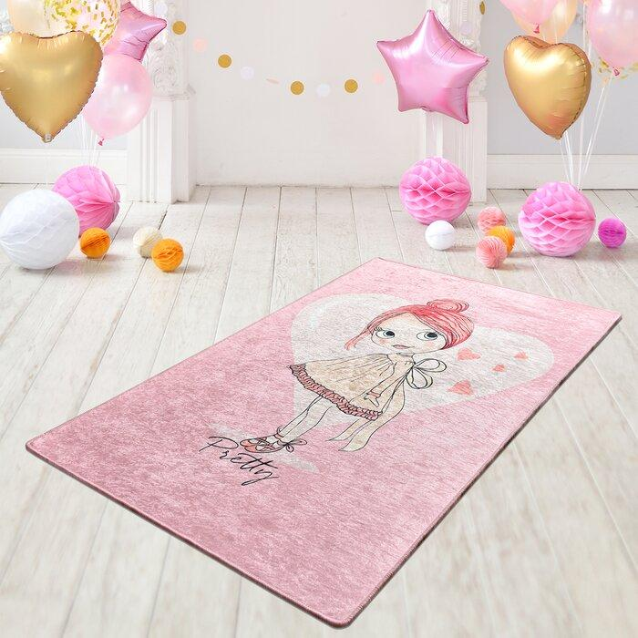 Isabelle & Max Barnstaple Pink Rug 100x160cm