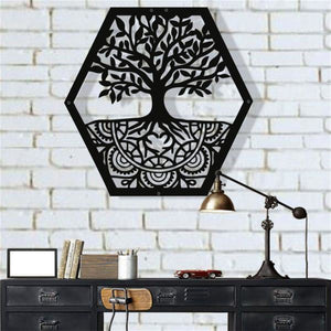 Antdecor METAL WALL ART, TREE OF LIFE WALL ART, METAL FAMILY TREE SIGN DECOR