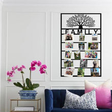 Load image into Gallery viewer, Antdecor PERSONALIZED METAL FAMILY TREE PANEL FOR PHOTO DISPLAY