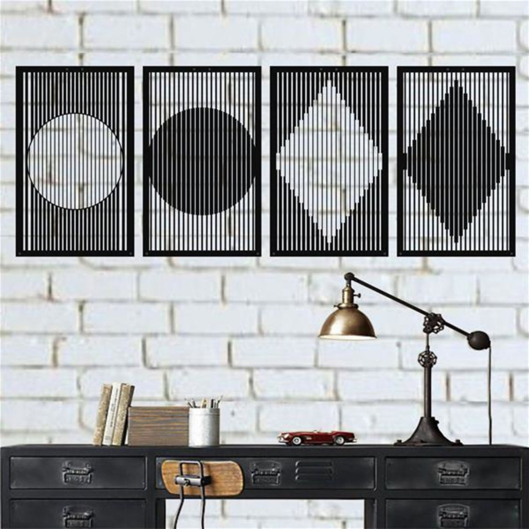Antdecor METAL GEOMETRIC DECOR, MINIMALIST WALL ART DECOR