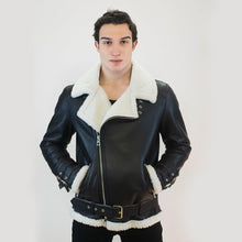 Load image into Gallery viewer, Berlin Men's Leather Jacket Casual Fashion Stand Collar Motorcycle Jacket Men Slim Style Quality Leather Genuine Lambskin