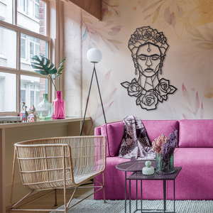 Frida Metal Wall Art L,  Wall Decor 40cm x 51cm