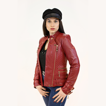 Load image into Gallery viewer, CBE Leather Collection Women Leather Jacket