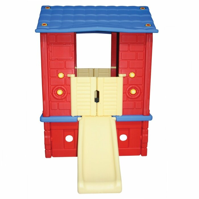 Plastic Playhouse Red/Blue - Indoor/Outdoor 120x90 cm