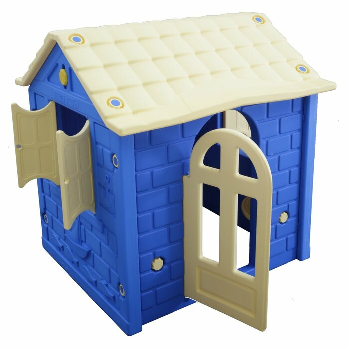 Plastic Playhouse Blue/Beige - Indoor/Outdoor 100x85 cm