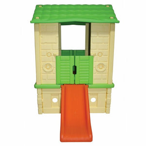 Plastic Playhouse Beige/Green - Indoor/Outdoor 120x90 cm