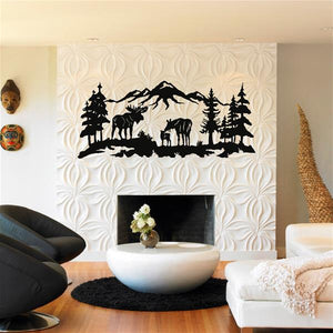 Antdecor Metal Moose Art, Nature Wall Art 60x26 cm