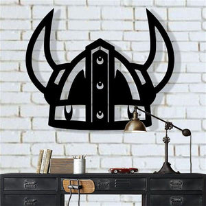 Antdecor Viking Helmet  Metal Wall Decor 45x37 cm
