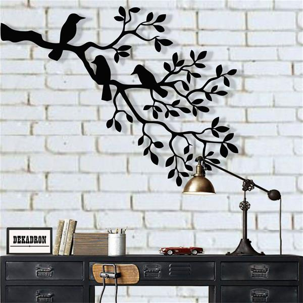 Antdecor Metal Birds Art, Birds Sculpture 45x34 cm