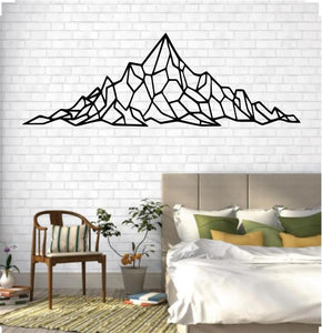 Antdecor Metal Mountain Art, Metal Wall Art, Geometric Mountain Range 61x20 cm