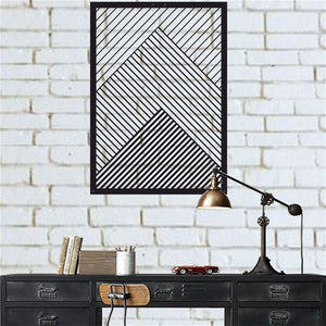 Antdecor Wall Art, Metal Geometric Decor, Minimalist Wall Art 32x45 cm