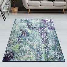 Load image into Gallery viewer, Williston Forge Lavine Green/Purple Rug 120x180cm