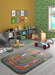 "Rugs for kids Race Club Theme by Antdecor  3'x 5' 39""x 59"" 100x150 cm - Cross Border Exporter"