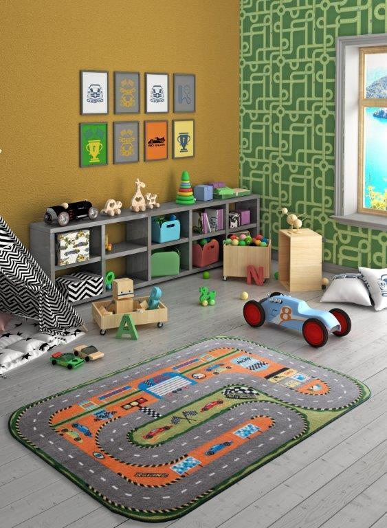 Rugs for kids Race Club Theme by Antdecor  3'x 5' 39