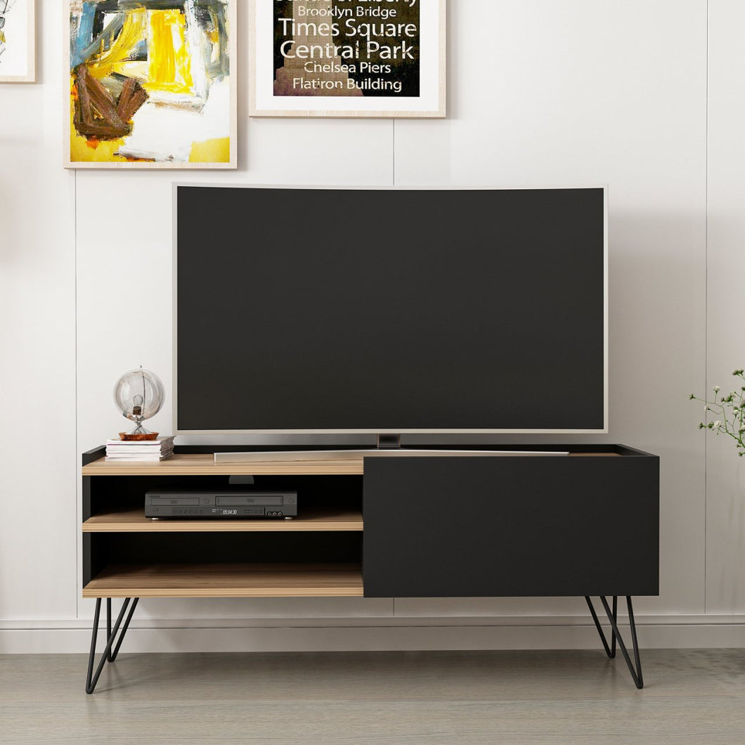 Homelante Aral Tv Unit Dore Walnut Matt Black