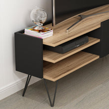 Load image into Gallery viewer, Homelante Aral Tv Unit Dore Walnut Matt Black