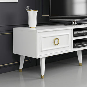 Homelante Binsu Tv Unit - Glossy White