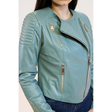 Load image into Gallery viewer, CBE Leather Collection Women Leather Jacket Made in Turkey Azur Mango Women's Leather Jacket 100% Genuine Leather