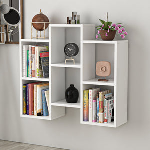 Homelante Fleet Bookcase - Wall Shelf - Side Table - White