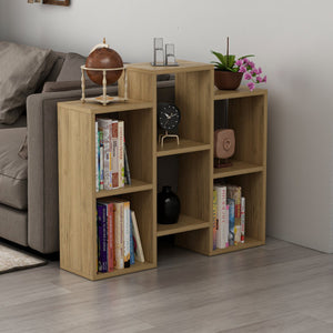 Homelante Fleet Bookcase - Wall Shelf - Side Table - Pera Walnut