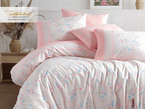 Etgbuy Ranforce Florence Bedding Linens Set Twin 4 Pcs Cotton Duvet Set