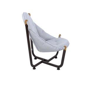 Longshore Tides Abramson Patio Chair Metal Outdoor Club Chairs Gray