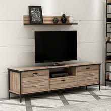 Load image into Gallery viewer, Homelante Lace Metal Leg Tv Unit / Kaman-Walnut TV Unit