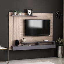 Load image into Gallery viewer, Homelante Lawrance Modern Tv Unit With Shelves - Kaman / Anthracite