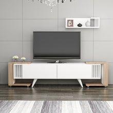 Load image into Gallery viewer, Homelante Leron Zigon Tv Unit - White / Kaman / Walnut