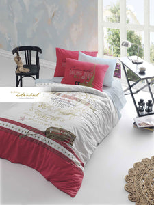 Etgbuy Ranforce Teenage Marina Bedding Linens Set Twin 3 Pcs Cotton Duvet Set